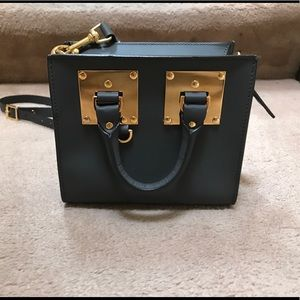 Authentic Sophie Hulme mini grey box tote